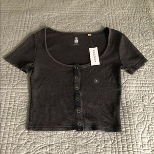 Me To We Waffle Knit Snap T-Shirt
